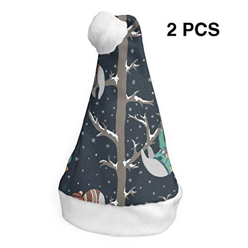 LoveBea Christmas Hat Funny Baby Sloths Santa Headwear