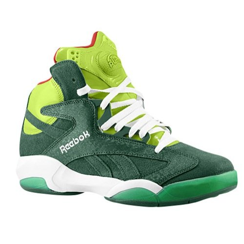 Reebok Shaq Attaq Mens in Green/Sonic Green/Red, 9