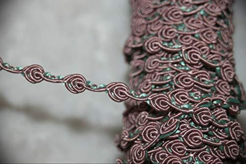 1 Yard Dusty Rose Mauve Mint Green Rosebud Sewing Assorted Pattern Ribbon Lace Trim 3/8