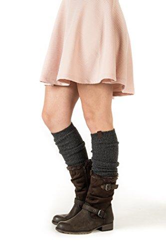 Marino Women's Long Knitted Warm Winter Leg Warmers, Boot Socks (Snug Knitted Boot)
