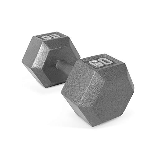 CAP Barbell Solid Hex Dumbbell, Single (60-Pound)