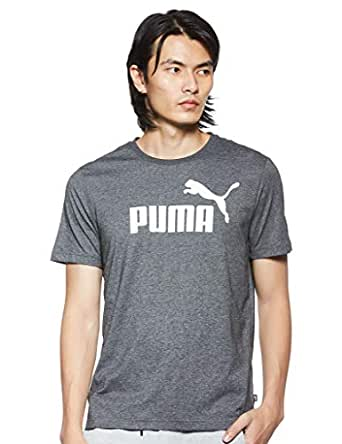 PUMA Men's ESS+ Heather TEE, Puma Black Heather, XXL