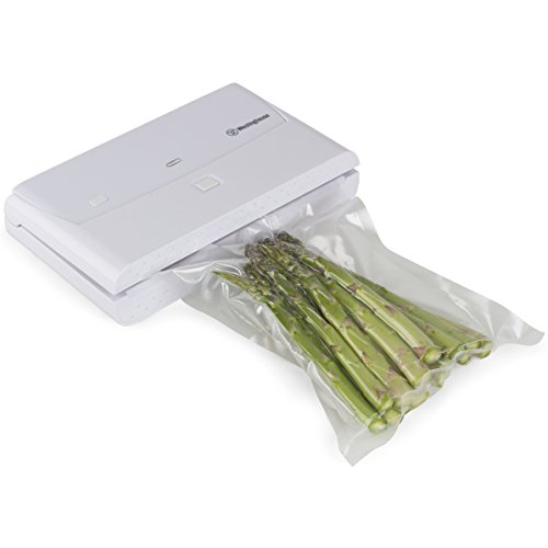 Westinghouse, Vacuum Sealer, Food Air Sealing System, Automatic Food Preservation, 140 Watts, White