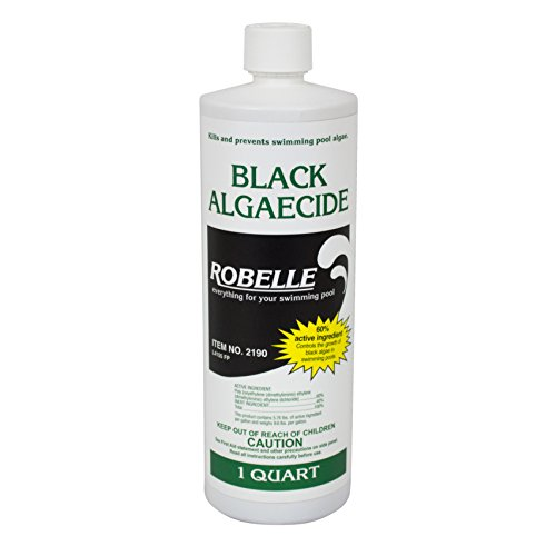 Robelle 2190 Black Algaecide for Swimming Pools, 1 Quart (Best Algaecide For Gunite Pools)