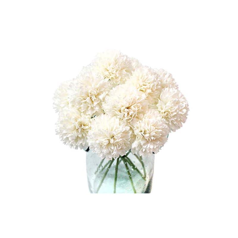silk flower arrangements jim`s cabin artificial flowers 10pcs fake flowers silk artificial chrysanthemum ball hydrangea bridal wedding bouquet for home garden party wedding decor