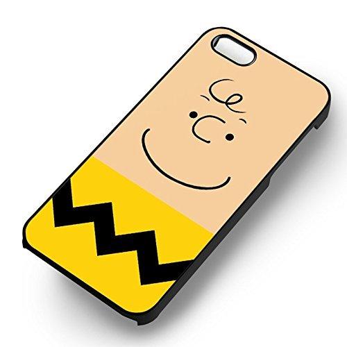 Unique Charlie Brown Face pour Coque Iphone 5 or Coque Iphone 5S or Coque Iphone 5SE Case (Noir Boîtier en plastique dur) W8S1QH