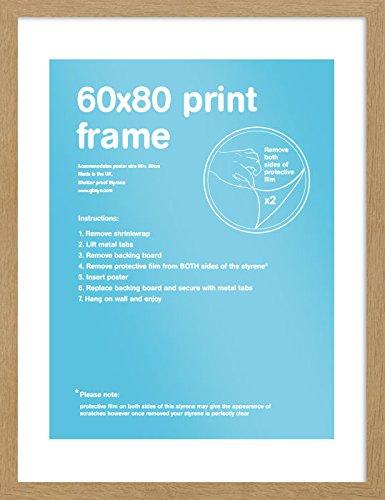 GB eye FMSBA1OK 60 X 80cm Flat Oak MDF Frame GB eye Ltd