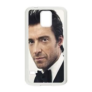 Samsung Galaxy S5 Phone Case White Hugh Jackman Actor Hansome EY7V8BTF Cell Phone Case Holder