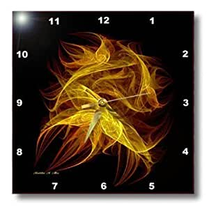 3dRose dpp_6690_1 Wall Clock, Flickering Flames Fractal Art, 10 by 10-Inch by 3D Rose