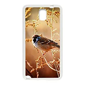 Autumn Plant And Bird White Phone For Case Samsung Galaxy Note 2 N7100 Cover