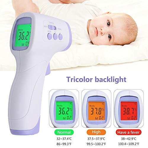 Fumak: PC868 Termómetro digital infrarrojo infrarrojo, sin contacto, termómetro digital infrarrojo para seres humanos y...