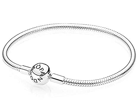 d5b4476c0 Image Unavailable. Image not available for. Color: Pandora Smooth Silver  Clasp Bracelet 59072817