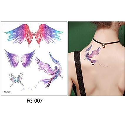 slldyax Etiqueta engomada del tatuaje del cuerpo de dibujos ...