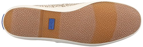 Keds Womens Mästare Djur Slip-on Mode Sneaker Elmwood Zebra