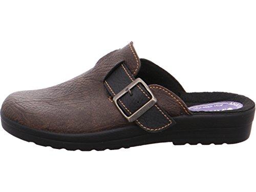 Quick-Schuh Clogs Tieffussbett 3Braun/Schwarz