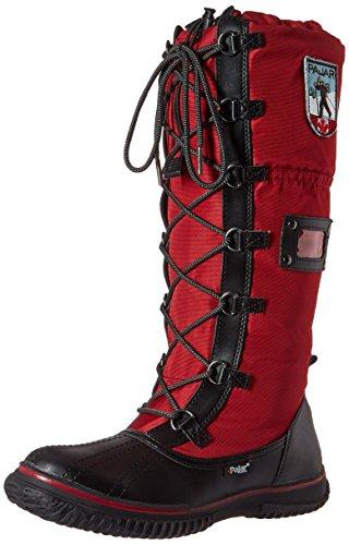 Pajar Womens Grepp Zip Boot Svart / Röd