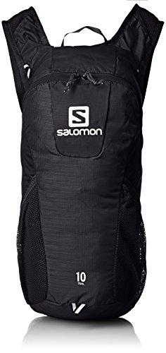 (Salomon Unisex Trail 10 Backpack, Black, OS)