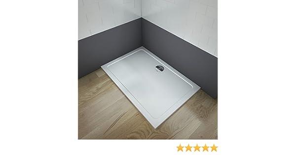 Plato de ducha 30mm cuadrado/rectangular piedra artificial ...
