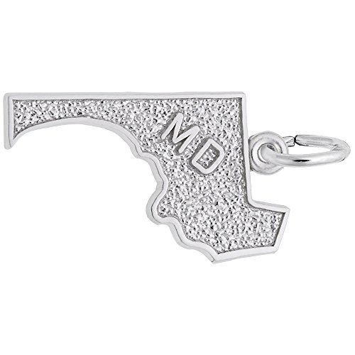 Rembrandt Charms, Maryland.925 Sterling Silver, Engravable