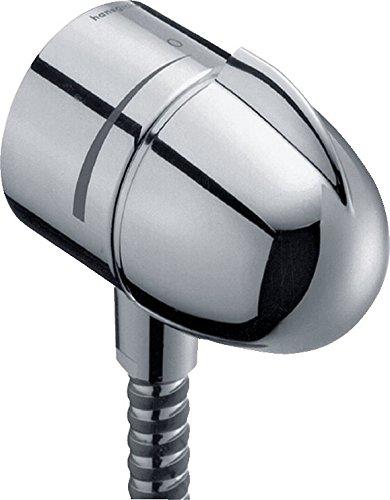Hansgrohe 27452000 FixFit Stop conexión de flexo con válvula antiretorno y llave de paso Cromo