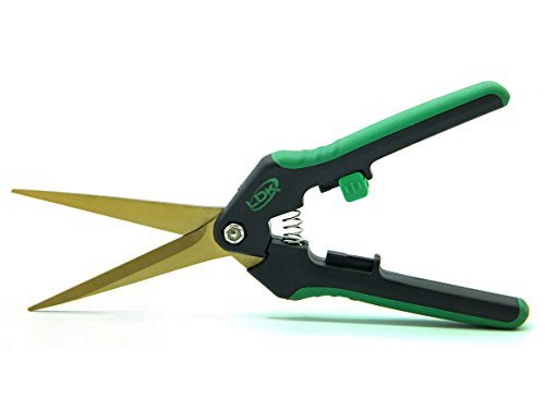 LDK Straight Tip Garden Trimming Scissors, Titanium Stainless Steel Blades, Great Pruning Snips, Professional Tools for Precision Pruning and Trimming, 7.5 Inch