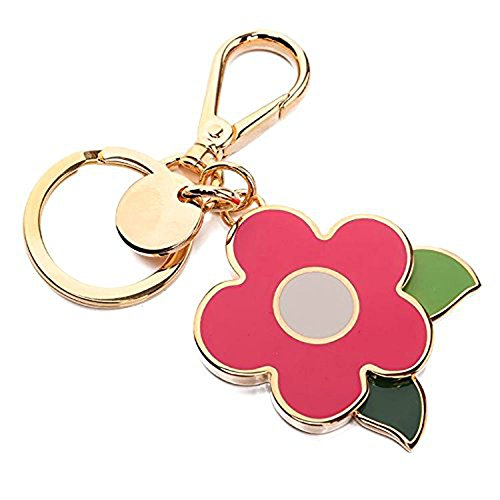 Prada 1PS644 Acciaio Smalto Portachiavi Metallo Metal Flower Handbag Charm Pink by Prada