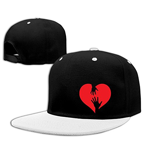 Custom Unisex-Adult Love Heart Casual Baseball Hats Caps White