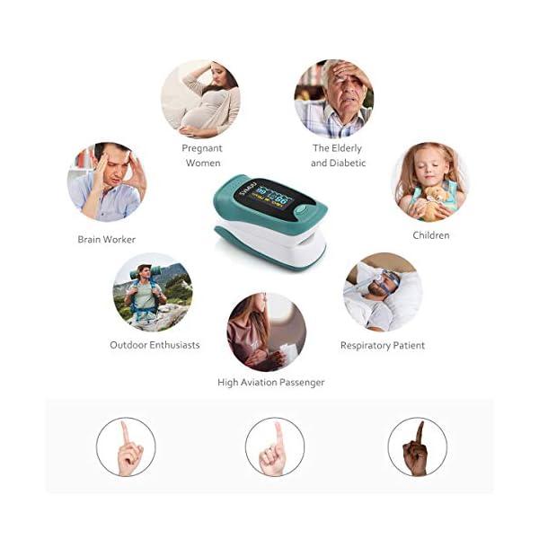 SVMUU Pulsossimetro, Ossimetri Professionale Portatile con Display LCD, Misura in 6 Secondi, per La Frequenza del Polso… 6 spesavip