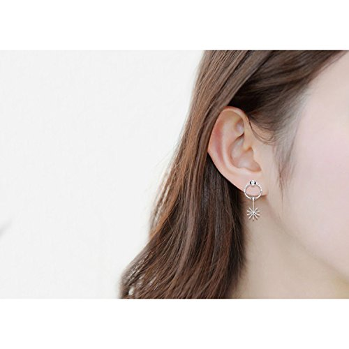 usongs s925 silver elegant sun descended Joe sister Daisy earrings pierced earrings women girls
