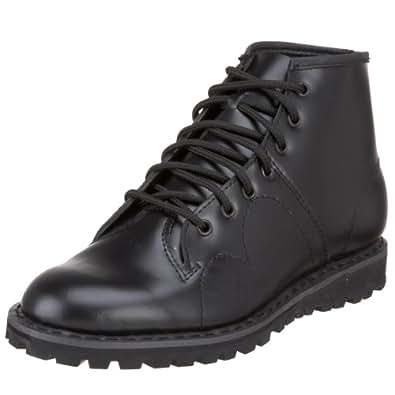 Pleaser Men's 102 Monkey Lace-Up Boot,Black Leather,4 M US