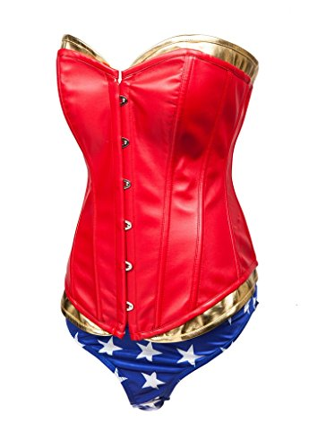 Alivila.Y Fashion Womens Sexy Wonder Woman Supergirl Corset Costume 2249-XXL