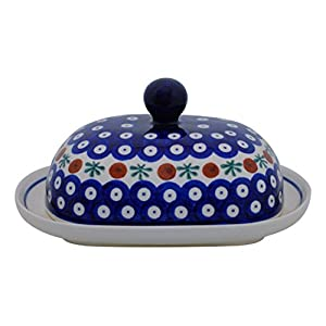 Bunzlauer, oval butter dish for 1 block of butter (250 g), decor 41