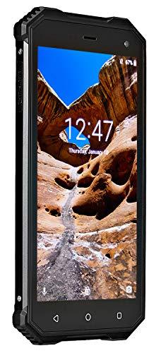 NUU Mobile R1 Rugged IP68-Rated - Waterproof Unlocked Dual Sim Smartphone - Black - US Warranty (Mobile Phone Rugged)