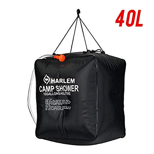 PW TOOLS Solar Camping Shower Bag Portable Solar Heated Travel Shower Bag with Removable Hose and Shower Head for…
