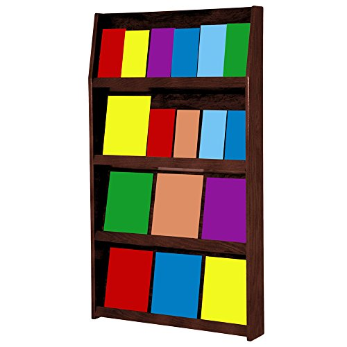 Wooden Mallet 24-Pocket Slope Literature Display, Light Oak 6 Pocket Wood Literature Display
