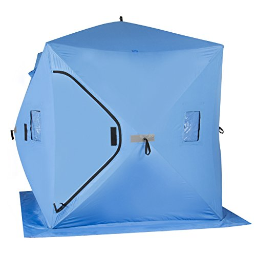 online store 634e9 c4dc1 Best Choice Products Ice Fishing Shelter Tent Portable Pop Up Ice Fishing  House Blue Waterproof - MasterBasser