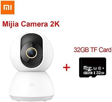 Xiaomi Mijia Smart Cámara IP 2K 360 ángulo de vídeo CCTV WiFi visión nocturna cámara web inalámbrica cámara de vigilancia bebé monitor con 32 GB tarjeta TF