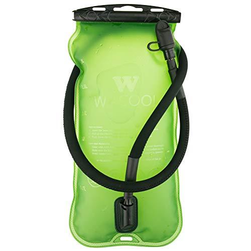 WACOOL 3L 3Liter 100oz BPA Free EVA Hydration Pack Bladder, Leak-Proof Water Reservoir (Green(Top Opening))