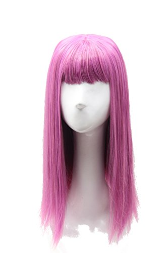 Anime Costumes For Female (Soul Wigs: Halloween Long Straight Pink Purple Wig Cosplay Wig Anime Costume Wig for Women)