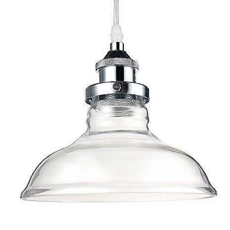 Glighone Luz Colgante Lámpara Industrial 40W Lámpara de Techo Estilo Vintage Lámpara Retra Casquillo E27 Luz de Pantalla para Bares, Cafetería, ...