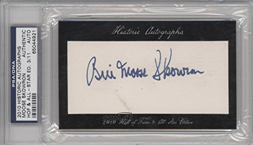 2010 Historic Autographs (Moose Skowron PSA/DNA Certified Auto AUTHENTICATED AUTHENTIC #3/11 (Baseball Card) 2010 Historic Autographs Cut Autographs Hall of Fame & All-Star Edition [Autographed] #MOSK)
