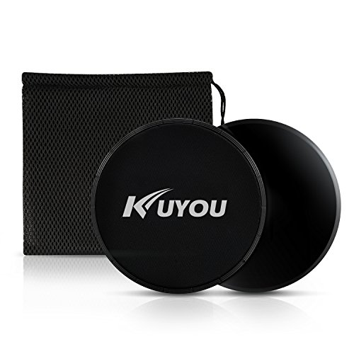 KUYOU Exercise Sliders,Professional Gliding Discs Multi-function Core Sliders for Smooth Sliding On Carpet or Hardwood Floors – Small Fitness Equipment for Home Gym Travel