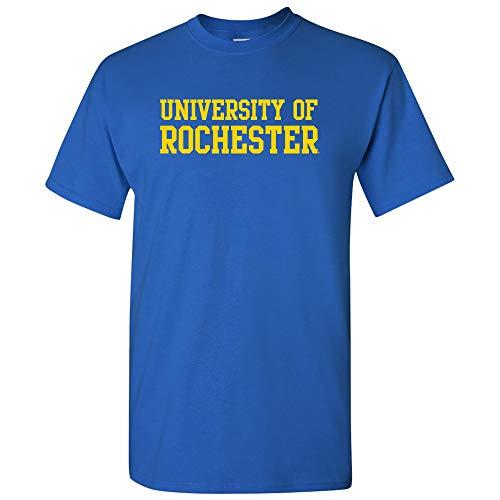 AS01 - University of Rochester Yellowjackets Basic Block T-Shirt - Large - Royal
