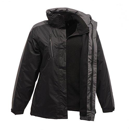 Chadwick Regata señoras 3-en-1 impermeable y transpirable chaqueta TRA141 rojo Black/Sealgrey