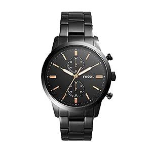 Fossil Men's Townsman Analog Quartz/Chronograph Black Watch, (FS5379)