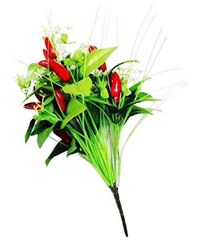 10d6b74f377 Premsons® Decorative Red Chilli Artificial Flowers Bunch(Multi Colour)