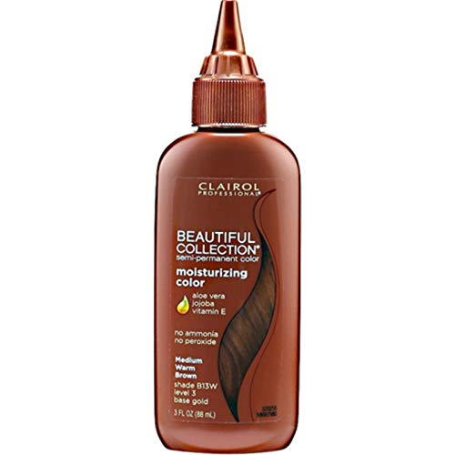 (Clairol Beautiful Collection #B013W Medium Warm Brown 3 Ounce (88ml) (6 Pack))