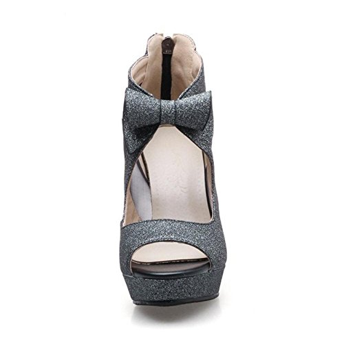Sandals Women Toe Black Peep Elegant RizaBina fIxqSS