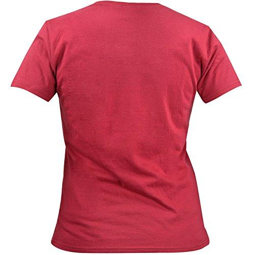 Pummeleinhorn - Damen T-Shirt Flauschig, Himbeer-Rot