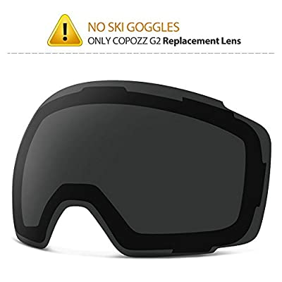 COPOZZ Ski Goggles, G2 Magnetic Snowboard Snow Goggles -2 Seconds Quick Change Lens, Imported Double-Layer Anti Fog Lens -UV400 Over Glasses OTG Helmet Compatible